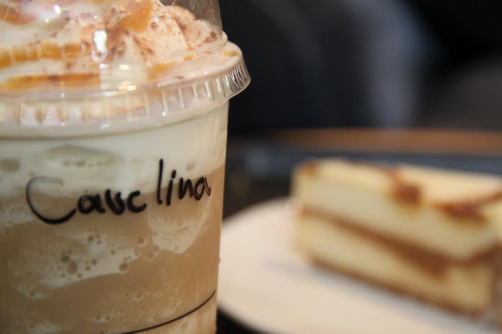 Frapuccino Caramel leche soja Starbucks
