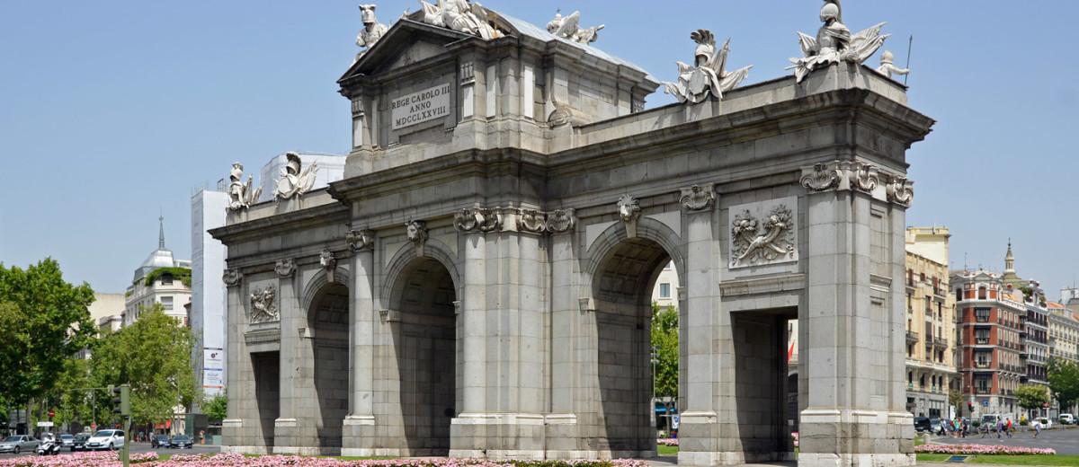 Puerta de Alcalá cara oeste interior dia