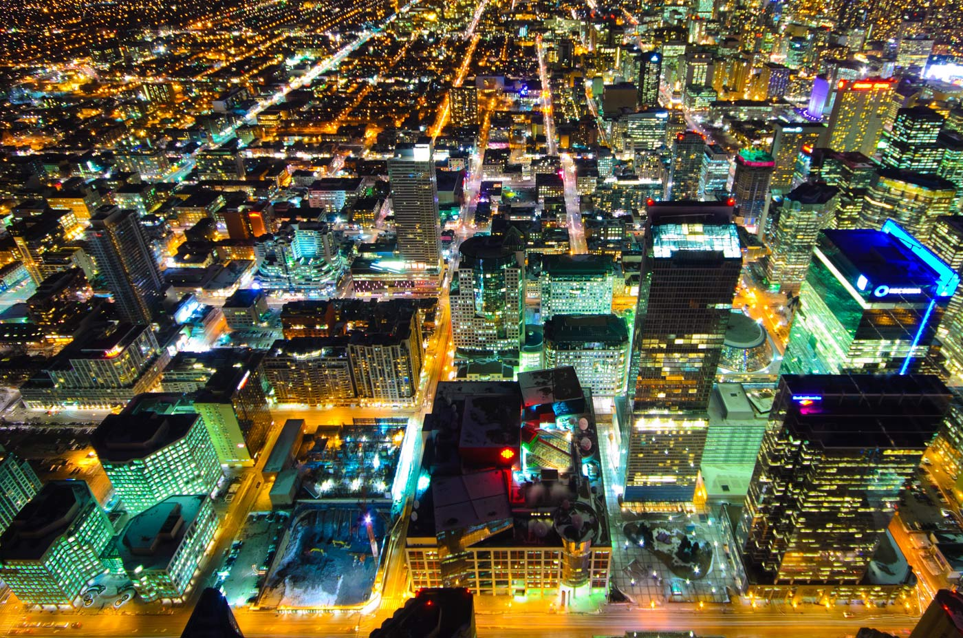 Toronto Downtown desde torre CN