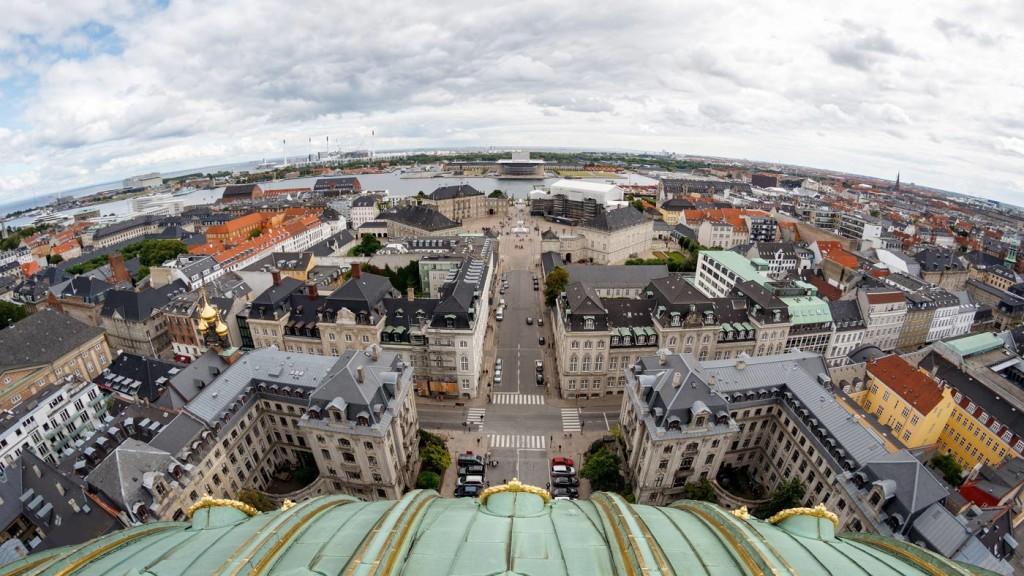 Vista desde Marmorkirken Copenhague