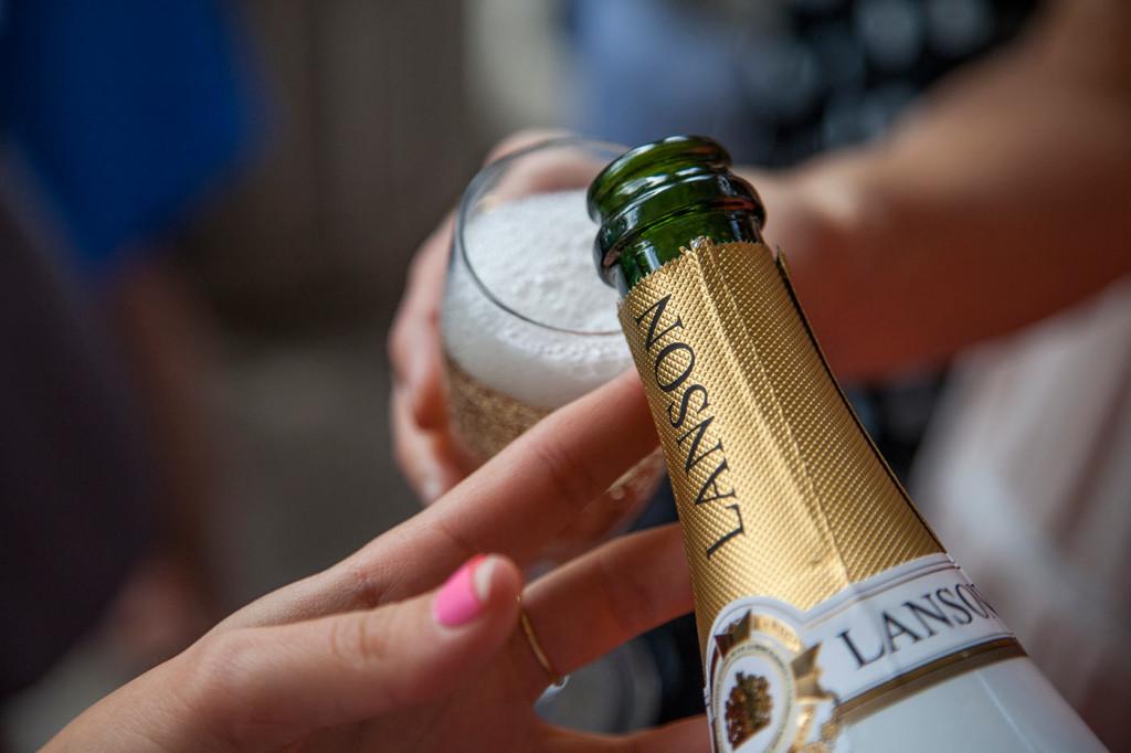 Botella champagne lanson