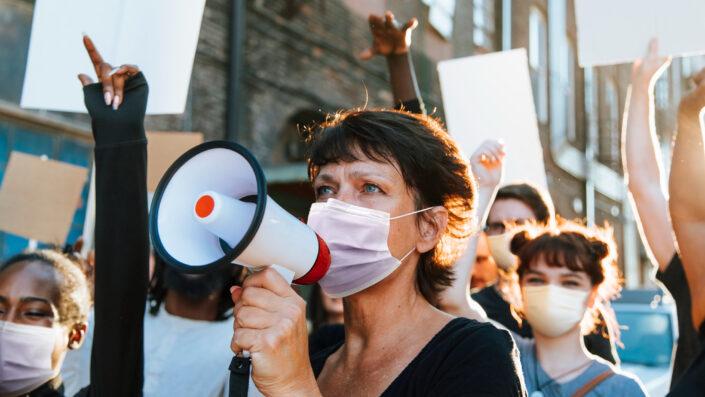 personas protesta